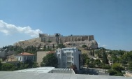 view from Acropolis museum